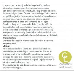 ILUMINIUM  Máscara de ojos gold ( pack de 4ud)